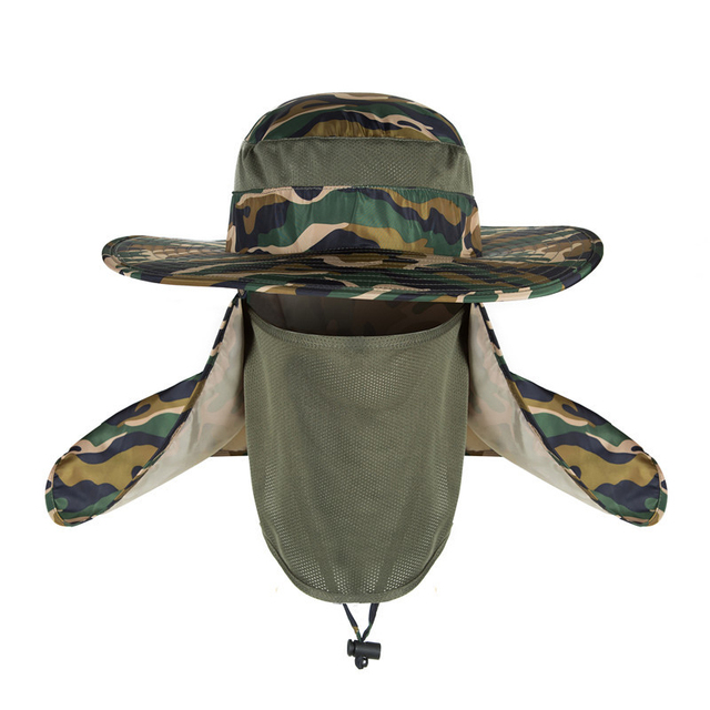 5cb65515 NCC Outdoor UV Protection Fishings Sun Protect Caps Breathable Sport Hiking  Camping Visor Hat Face Neck Cover Hat