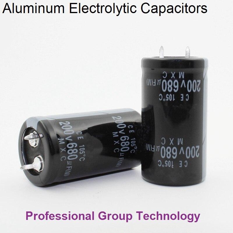 1pcs EB333 Good Quality 200v680uf Radial DIP Aluminum Electrolytic Capacitors 200v 680uf Tolerance 20% Size 22x40MM 20%