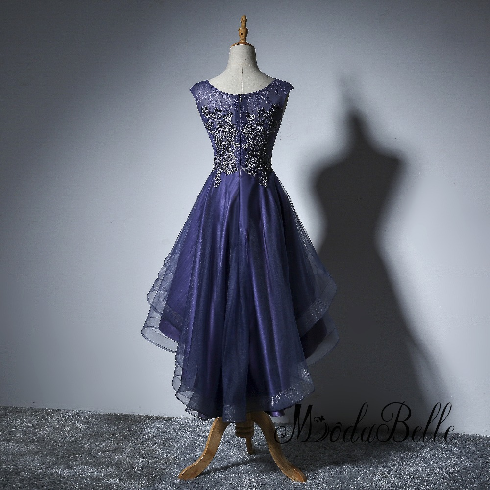 Modabelle Asymmetric Party Dress Beaded Lace Navy Blue Elegant ...