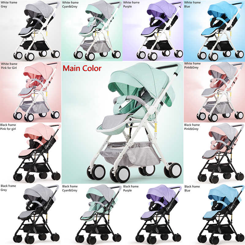 61c37a1d3 ... Light Weight Baby Stroller Can Sit Can Lie 2 in 1 Baby Pram Luxury Baby  Travel