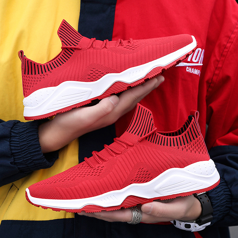 Men s Fashion Trainers Mesh Breathable Light Casual Shoes Adult Youth Male Footwear Sneakers Man Brand