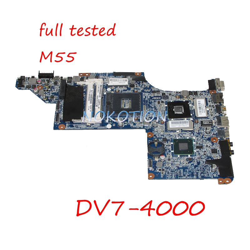 NOKOTION 634259-001 Laptop Motherboard For HP Pavilion DV7-4000 17 inch DA0LX3MB8F0 HM55 DDR3 HD5000 Video card Main board works nokotion 590329 001 nal70 la 4107p main board for hp compaq cq41 laptop motherboard hm55 ati mobility radeon hd 4350 ddr3 works