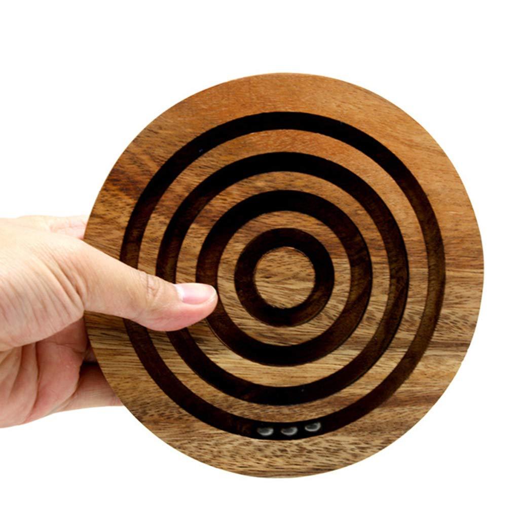 2087dd2bba9d Pelota de madera laberinto equilibrio rompecabezas estrategia juego  juguetes educativos regalo de ...