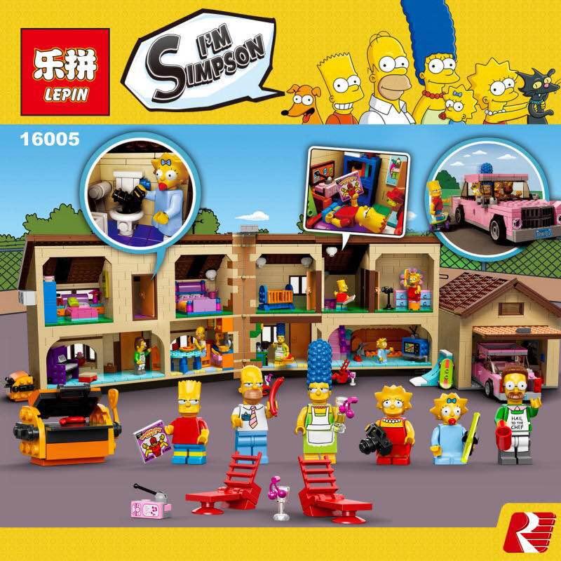 New 2575Pcs Lepin 16005 Simpsons family Kwik-E-Mart Set Building Blocks Bricks Educational Toys 71006 Funny Children DIY Gift