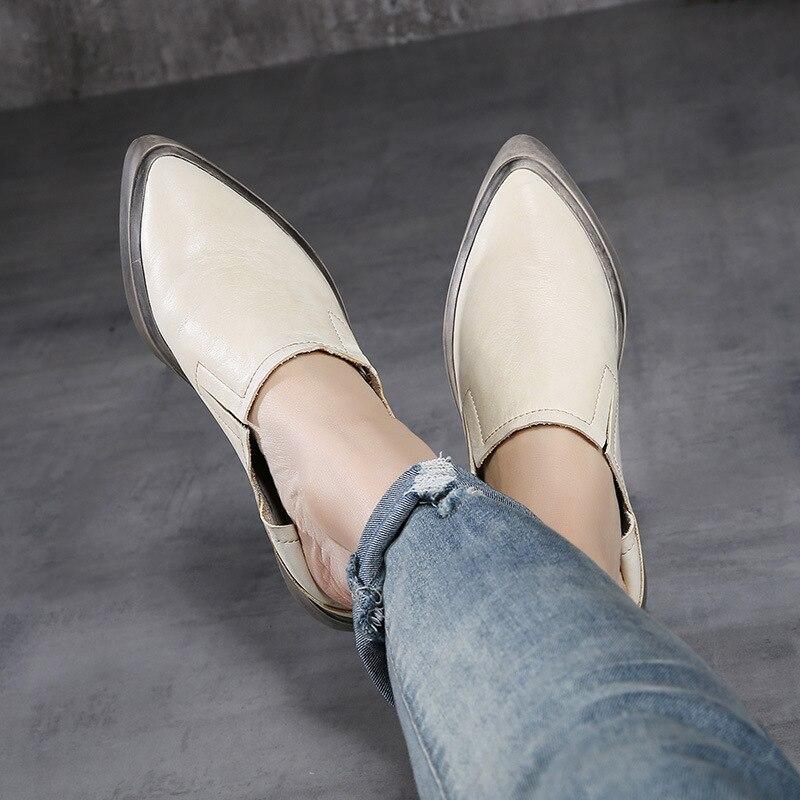 Femmes Mocassins La Occasionnels Chaussures Main Véritable Plates Beige Été Paresseux red À Plate 2018 Printemps De Loisirs khaki forme En Cuir 4a7FqEvSxw