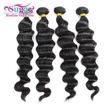 4Bundles Sugar Virgin Hair Brazilian Loose Wave/Curl 7A Brazilian Virgin Hair Loose Wave Brazilian Wet Wavy Virgin Hair Deals