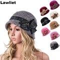 2016new disponível moda lã chapéus de inverno mink cloche bucket chapéus para mulheres duas camadas agradáveis casual feminino cap a374