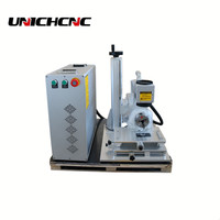 Portable mini metalen en niet-metalen fiber markering machine