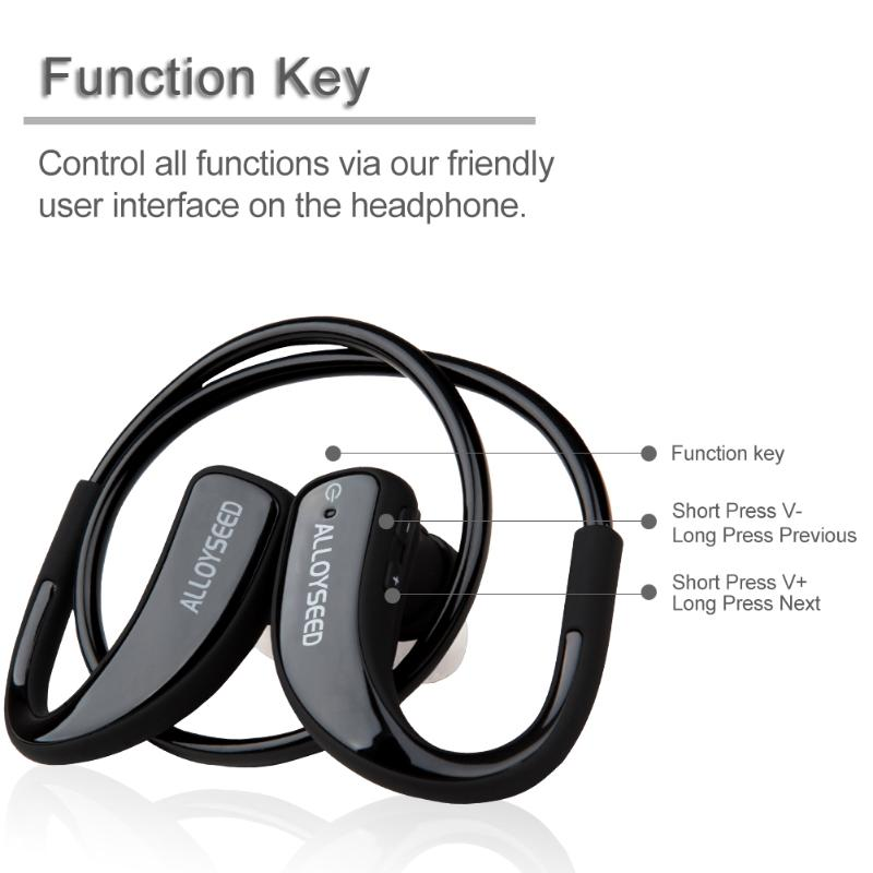 ALLOYSEED Wireless Bluetooth Sports In Ear Earphone Stereo Auriculares Bluetooth Earpiece Headset for Smartphone