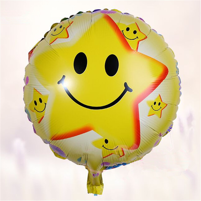 50 pcs/lot star balloons bubble balloon 18 inch yellow birthday balloons party d