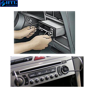Image 3 - Kit doutils dinstallation de garniture de tableau de bord, 20 pièces, outils de suppression de Radio de véhicule, suppression du panneau de porte, unité centrale stéréo réelle, touches Audio, Navigation
