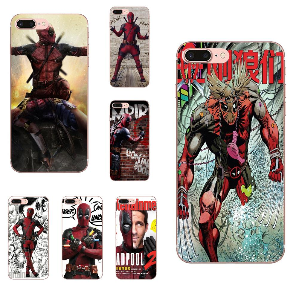For Apple iPhone 4 4S 5 5C 5S SE 6 6S 7 8 Plus X XS Max XR Special Offer Vertical Phone Case Marvel Hero Deadpool 2 image