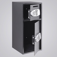 New Digital Double Door Safe BoxStrong Iron Larger Digital Keypad Security Box W/ Safe Lock Money Jewelry