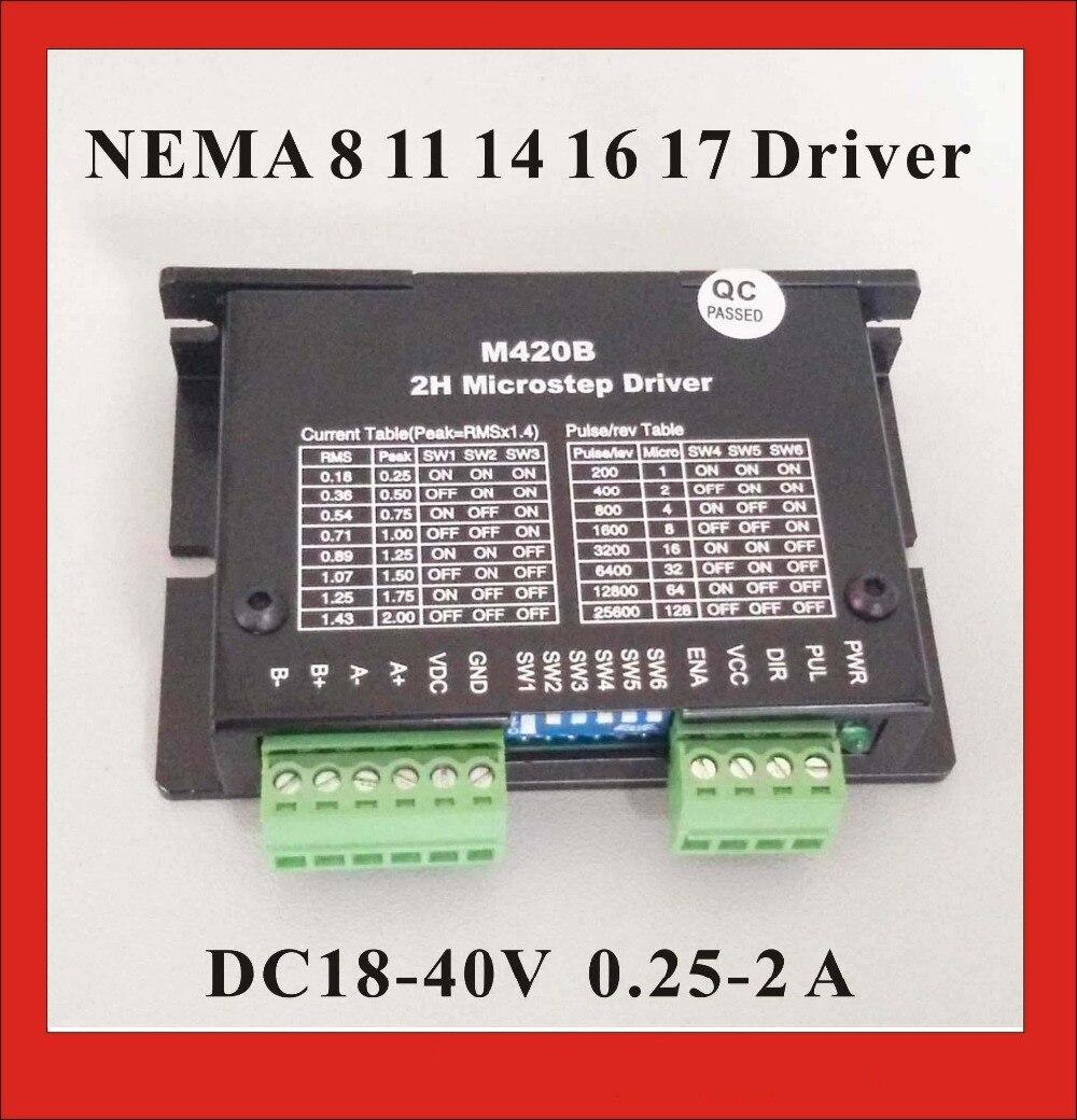 24vdc Stepper Motor Driver M420b For Nema 8 11 14 16 17 Micro Gt Servo 025 2a Dc18 40v
