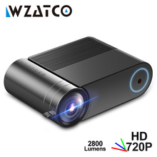 WZATCO מיני מקרן Y2 אנדרואיד 9.0,2800Lumens 1280x720P, נייד HD LED מקרן חכם 3D Proyector קולנוע ביתי