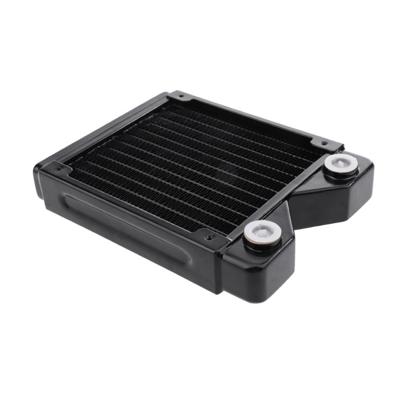 120mm G4/1 copper Computer Radiator PC Case Water Cooling Cooler Heat Sink Heat Exchanger CPU GPU Heatsink 75 29 3 15 2mm pure copper radiator copper cooling fins copper fin can be diy longer heat sink radiactor fin coliing fin