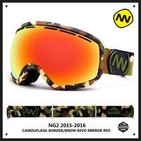 NANDN Big Spherical Men Women Snowboard Sports Ski Goggles Double Lens Anti Fog Professional Ski Glasses