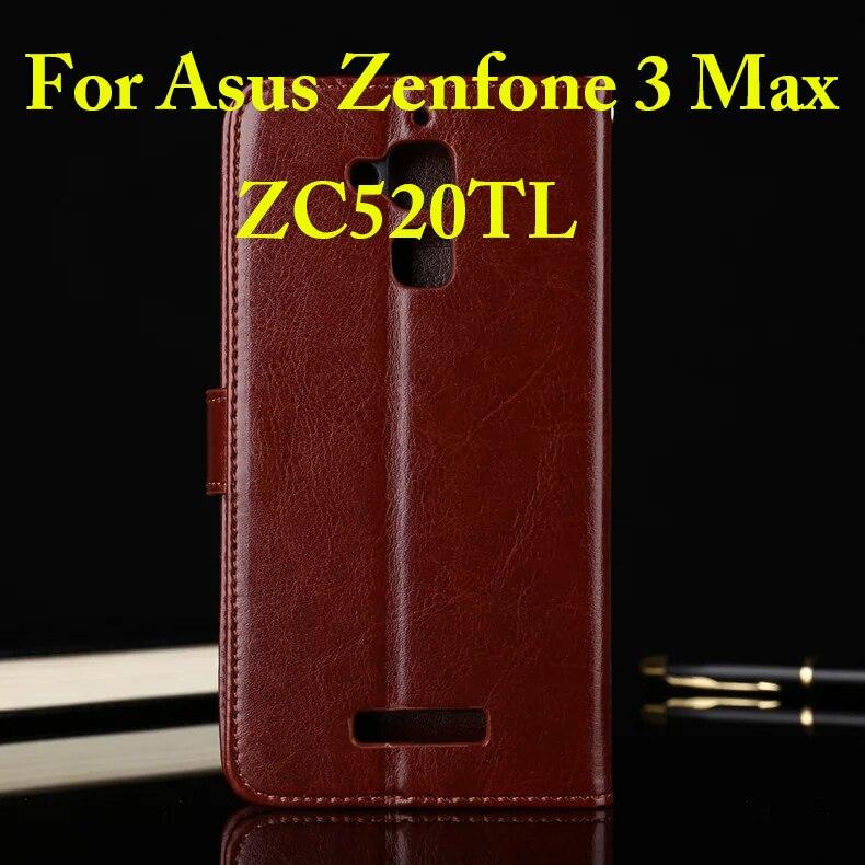 cab7fdca0 Para Asus ZenFone 3 Caso Max ZC520TL 5.2 polegada Virar Carteira Capa de  couro Para ZenFone 3 Max Com Função Estande Titular do Cartão Fundas