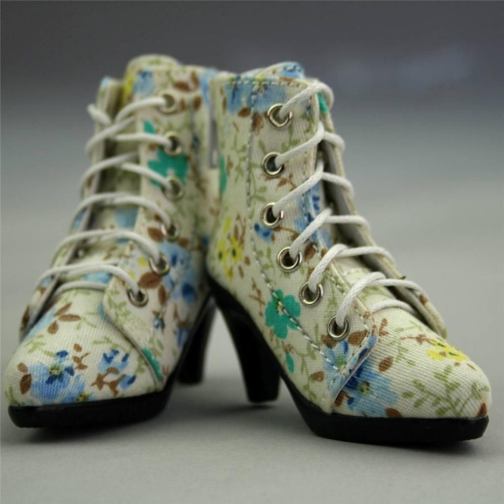 [wamami] 48# Blue Flower 1/4 MSD BJD DOD Dollfie High Heels Flanging Boots/Shoes маша и медведь для тела