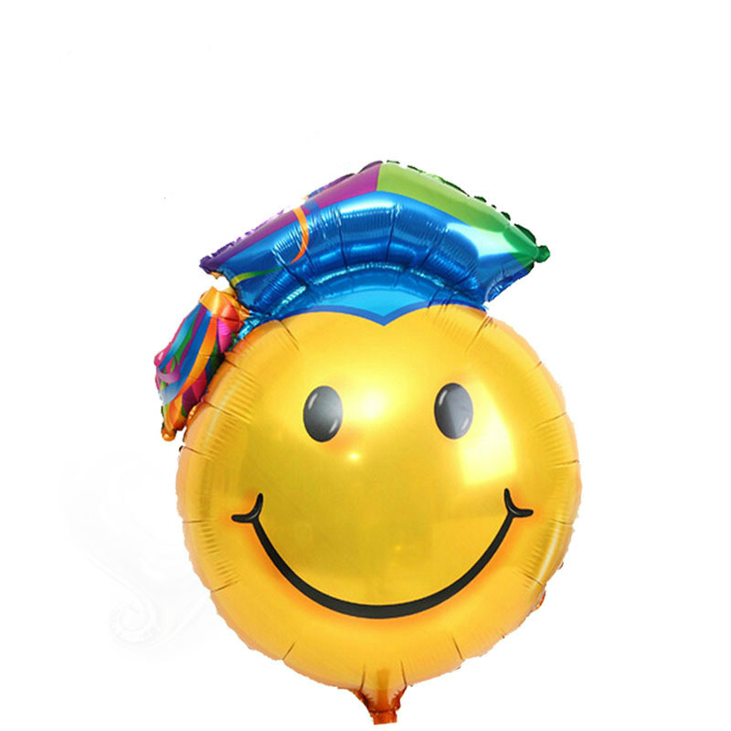 Doctor's hat aluminum film balloon graduation decorate school decorate children birthday balloon doctor smile balloon
