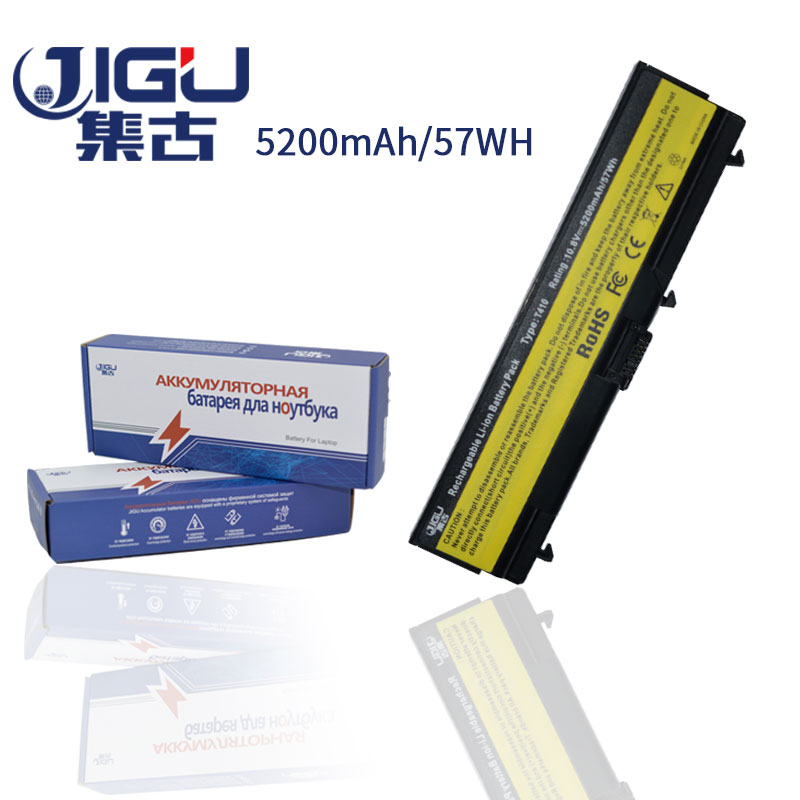 JIGU Black 6 Cells laptop battery FOR LENOVO ThinkPad E40 E50 Edge 14 L410 L412 L420 L421 L510 L512 L520 SL410 T410 T410i W510