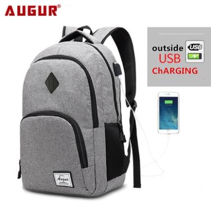 AUGUR Men's Backpacks Male Casual Back bag Travel Teenager Student School computer Laptop bags women man USB Charging Backpack все цены