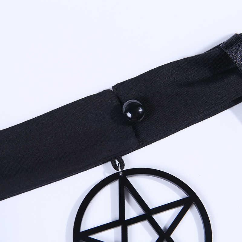 ผู้หญิง Crop Tops Halter Star Gothic Punk สีดำ Camis เซ็กซี่สายคล้องคอแขนกุดฤดูร้อน Hollow Out สีดำหญิงเสื้อ