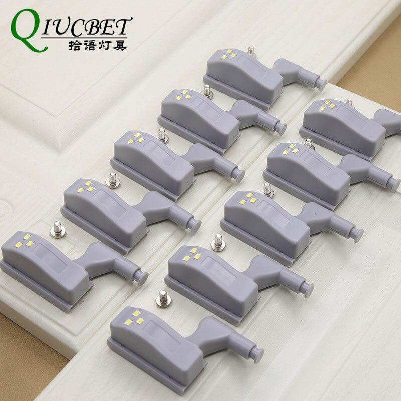 Mini Led Sensor Under Cabinet Lights For Kitchen Bedroom Closet Wardrobe Night Light Battery Operated 10pcs/lot Lights & Lighting