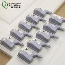 Светодиодный мини светильник с датчиком под шкаф s для кухни шкаф для спальни Ночной светильник на батарейках 10 шт./лот
