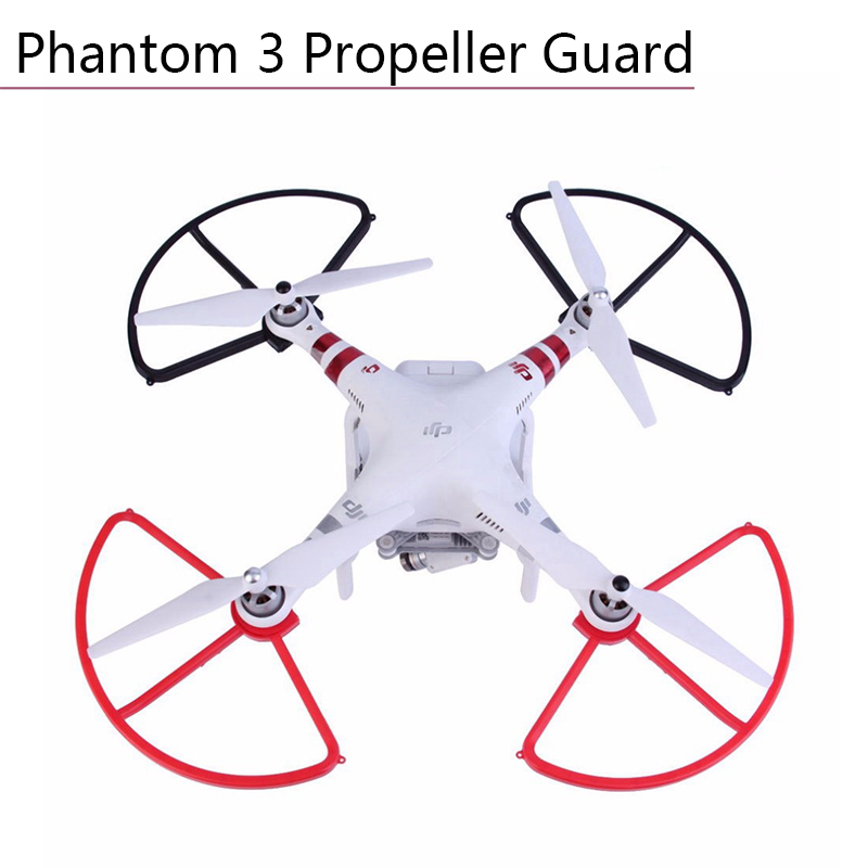 4 Pcs Quick Release Propeller Guard for DJI Phantom 2 3 3A 3P 3S SE Drone Blade Bumper Props Protector Protective Ring Black Red