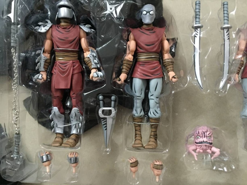 ORIGINAL SDCC NYCC foot The Shredder Raphael Leonardo PVC Action Figure Collectible Model Toy 10cm WIHT IN BOX