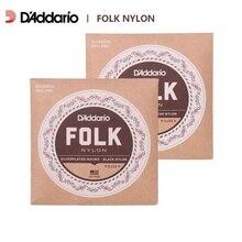 D'Addario EJ32/EJ33 Folk Nylon Guitar Strings, Ball End, Nylon Trebles