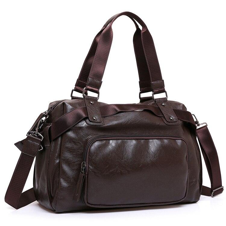 New Brand Split Leather Travel Bags for Men Large Capacity Portable Male Shoulder Bags Mens Handbags Vintage Travel Duffle Bag