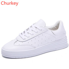 Women Casual Shoes Leather Sports Breathable Fashion Vulcanized With Round Head 35-40