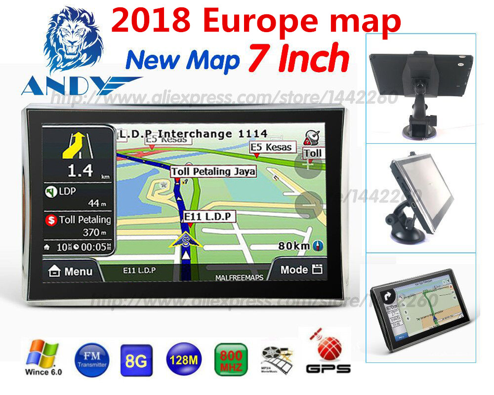 x7 Oriana 7 inch HD Car/Truck GPS Navigation 800M/ FM/8GB/126MB Maps For Russia/Belarus/Kazakhstan Europe/USA+Canada(China)