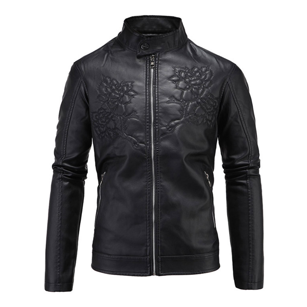 Herobiker Classic Motorcycle Jacket Men Retro PU Leather Jacket Cafe Racer Slim Fit Moto Punk Casual Windproof Jacket Size M-5XL tangnest men formal coat 2018 high quality business casual style men jacket new solid slim long black jacket size m 3xl mwn180
