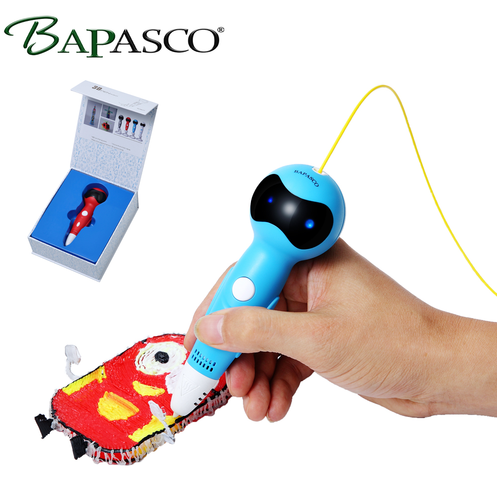 2018 BAPASCO 3D pen+200 meter PCL filament 3D drawing pen with Voice prompts function USB micro adapter print speed adjustable