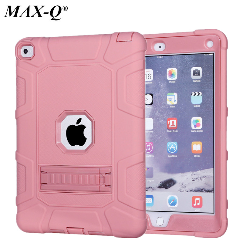 Coque Case for iPad Air 2 Durable Heavy Duty 3 in 1 Hybrid Rugged Case Shockproof Cover Capa for iPad 6 9.7'' Case with stand case for new ipad pro 10 5 2017 a1701 cover heavy duty 2 in 1 hybrid rugged durable shockproof rubber funda tablet shell stylus