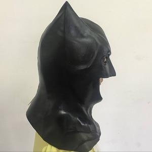 Image 5 - 2018 חדש גיבור באטמן ויין קוספליי Balck לטקס קסדת עיניים מסכות ליל כל הקדושים ברדסי מסיבת אבזרי תחפושת למבוגרים