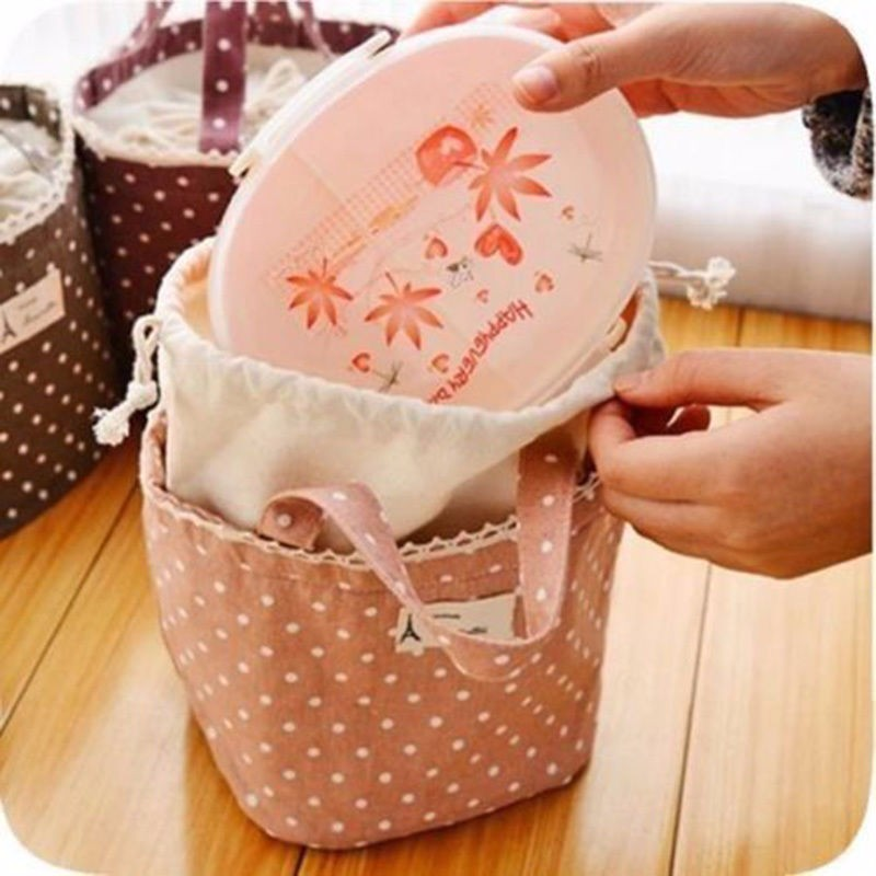 1pc Insulated Tinfoil Aluminum Cooler Picnic Lunch Box Bag Small Dot Thermal Dinner Travel Purse Zipper Waterproof Snack Food Storage Lunch Bag (3)
