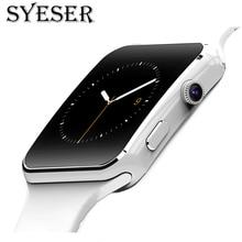 Дешевые Syeser S6 Bluetooth смарт-часы модаsmart watch men шагомер смарт часы Поддержка Камера Sim карта Спорт Носимых устройств для Iphone Android телефон PK SmartWatch A1 DZ09 S3