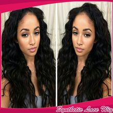 Hot Selling Long Soft Body Wavy Hair Brazilian Synthetic Lace Front Wig Heat Resistant Quality Cheap Wavy Wigs For Black Women