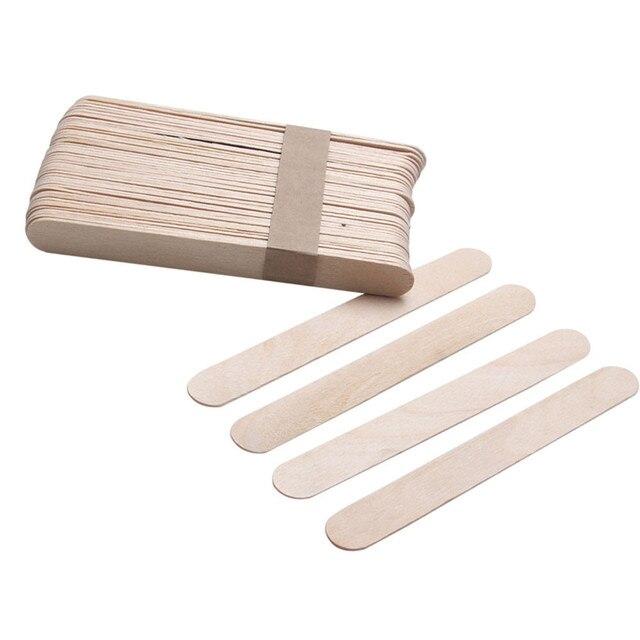10 ADET Kadın Ahşap Vücut Epilasyon Çubukları Balmumu Ağda Tek Kullanımlık Çubuklar Güzellik Tuvalet Kitleri Ahşap dil bastırıcı Spatula Yeni