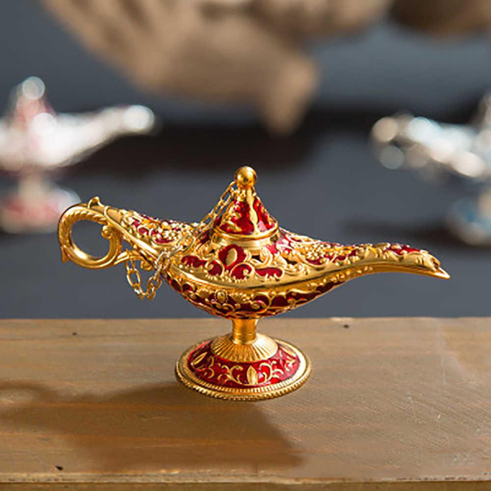 Русская Аладдин лампа полый Аладдин желая волшебная лампа цинковый сплав желая чай горшок Ретро украшение дома орнамент подарки