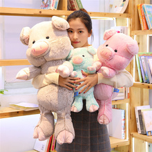 30/40/60/80 Cm Soft Pig Plush Toy Stuffed Cute Animal Lovely Dolls For Kids Appease Babys Room Decoration
