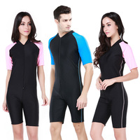 Plus Xxl Women Man Snorkeling Swimwear Short Sleeved Swimsuit Sunscreen Surf Wear Wetsuit Adult Diving Suit