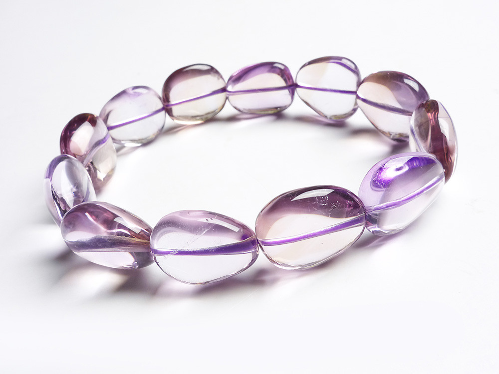Genuine Natural Purple Crystal Oval Beads Bracelets For Women Transparent Stretch Charm Bracelet Femme Free Shipping gorgeous faux crystal oval bracelet with ring for women
