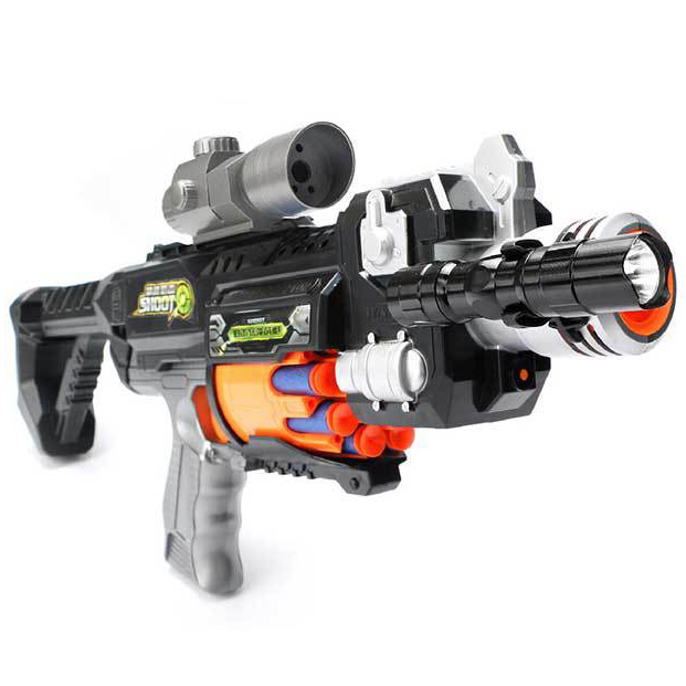Toy Submachine Gun Soft Bullet Gun Plastic Toy Outdoor Toys Paintball Nerfs Elite Air Soft Gun Gift For Children cross fire toy gun barrett sniper rifle capable of firing bullets soft bullet gun and there are children s toys flash sound gun