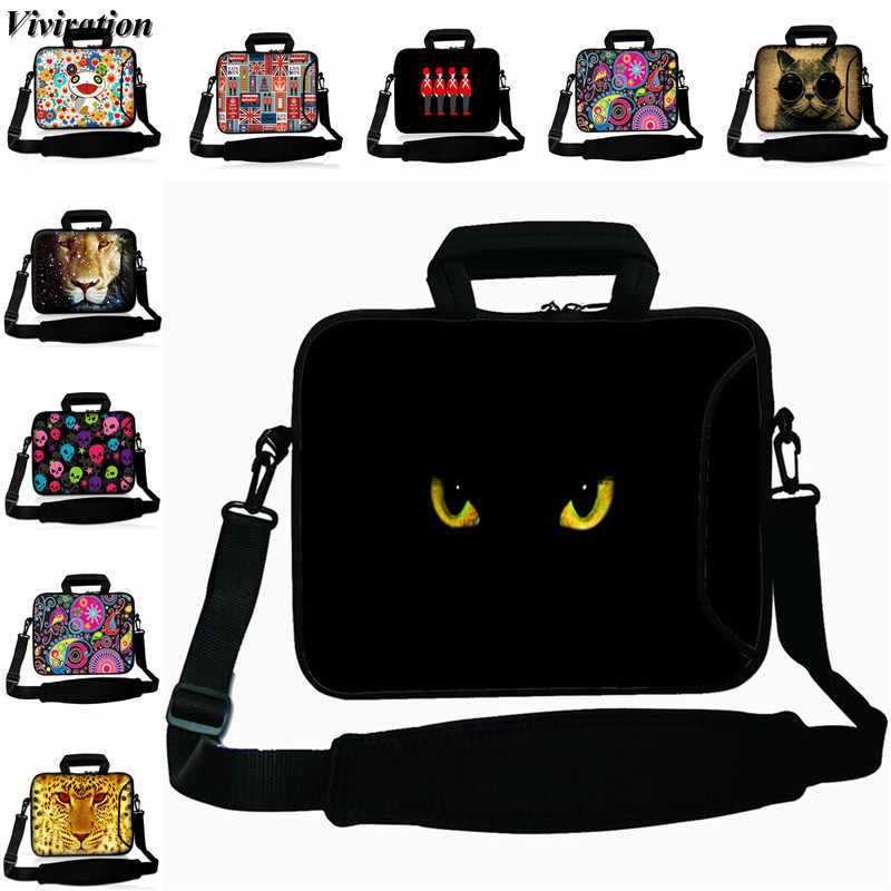 Messenger 17 Inch Laptop Tas 17.3 15 13 12 14 10 Inci Tablet PC Tas Bahu untuk Lenovo Dell 13.3 12.3 15.6 Notebook Cover Case