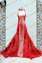 Бесплатная доставка На Заказ высокого qualtity Серенити сейлор мун Хино Рей красное платье принцессы косплей костюм